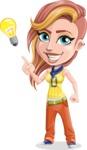 Dance Woman Vector Cartoon Character AKA Melissa - Idea