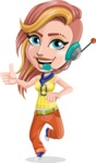 Dance Woman Vector Cartoon Character AKA Melissa - Support 1