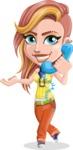 Dance Woman Vector Cartoon Character AKA Melissa - Support 2