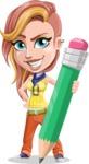Dance Woman Vector Cartoon Character AKA Melissa - Pencil