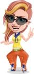 Dance Woman Vector Cartoon Character AKA Melissa - Sunglasses 1