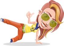 Dance Woman Vector Cartoon Character AKA Melissa - Sunglasses 2