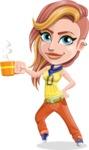 Dance Woman Vector Cartoon Character AKA Melissa - Coffee