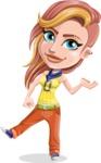 Dance Woman Vector Cartoon Character AKA Melissa - Showcase 1