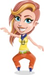 Dance Woman Vector Cartoon Character AKA Melissa - Dance 1