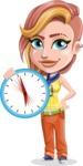 Dance Woman Vector Cartoon Character AKA Melissa - Time