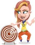 Dance Woman Vector Cartoon Character AKA Melissa - Target
