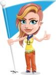 Dance Woman Vector Cartoon Character AKA Melissa - Checkpoint