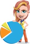 Dance Woman Vector Cartoon Character AKA Melissa - Chart