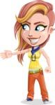 Dance Woman Vector Cartoon Character AKA Melissa - Show 1