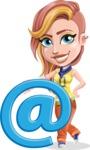 Dance Woman Vector Cartoon Character AKA Melissa - E-mail