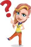 Dance Woman Vector Cartoon Character AKA Melissa - Question