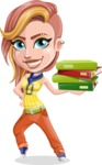 Dance Woman Vector Cartoon Character AKA Melissa - Book 1