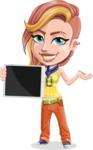 Dance Woman Vector Cartoon Character AKA Melissa - Tablet 1