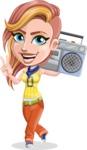 Dance Woman Vector Cartoon Character AKA Melissa - Music 2