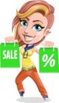 Dance Woman Vector Cartoon Character AKA Melissa - Sale 1