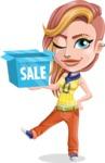 Dance Woman Vector Cartoon Character AKA Melissa - Sale 2