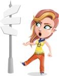 Dance Woman Vector Cartoon Character AKA Melissa - Crossroad