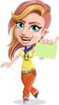 Dance Woman Vector Cartoon Character AKA Melissa - Sign 1
