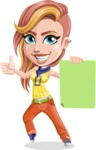 Dance Woman Vector Cartoon Character AKA Melissa - Sign 2
