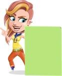 Dance Woman Vector Cartoon Character AKA Melissa - Sign 6