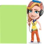 Dance Woman Vector Cartoon Character AKA Melissa - Sign 8