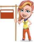 Dance Woman Vector Cartoon Character AKA Melissa - Street Sign