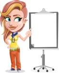 Dance Woman Vector Cartoon Character AKA Melissa - Presentation 2