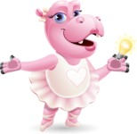 Dancing Hippo Cartoon Character AKA Hippo Ballerina - with an Idea