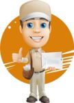 Parcel Delivery Person Cartoon Vector Character AKA Hyuk Dependable - Shape 7