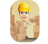 Parcel Delivery Person Cartoon Vector Character AKA Hyuk Dependable - Shape 9