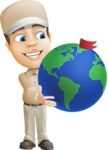 Parcel Delivery Person Cartoon Vector Character AKA Hyuk Dependable - Earth