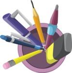 Vector Office Items Graphic Bundle - Item 11