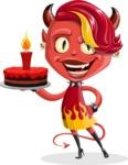 Darla the Devil Girl - With Cake