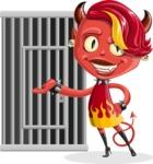 Darla the Devil Girl - Cage
