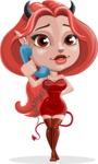 Cute Devil Girl Vector Cartoon Character AKA Sophia - Support