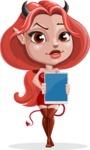 Cute Devil Girl Vector Cartoon Character AKA Sophia - Tablet 1