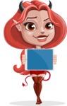 Cute Devil Girl Vector Cartoon Character AKA Sophia - Tablet 2