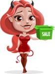 Cute Devil Girl Vector Cartoon Character AKA Sophia - Sale 2
