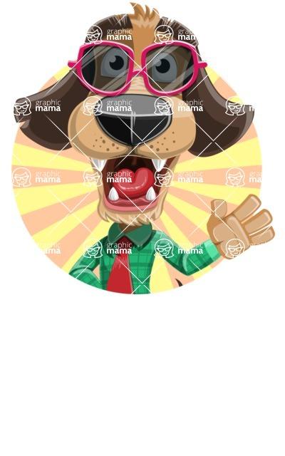 Business Dog Cartoon Vector Character AKA Donny - Shape 2