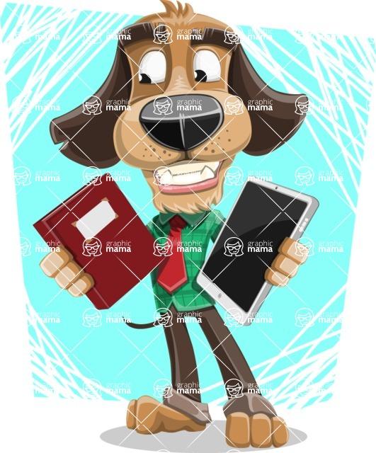 Business Dog Cartoon Vector Character AKA Donny - Shape 5