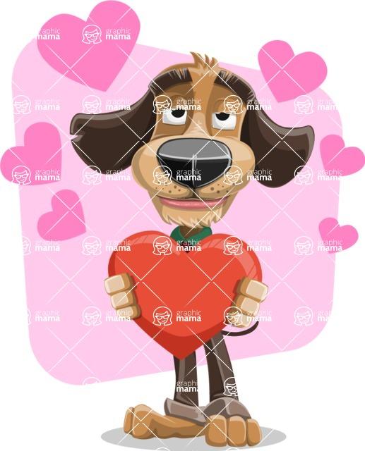 Business Dog Cartoon Vector Character AKA Donny - Shape 7