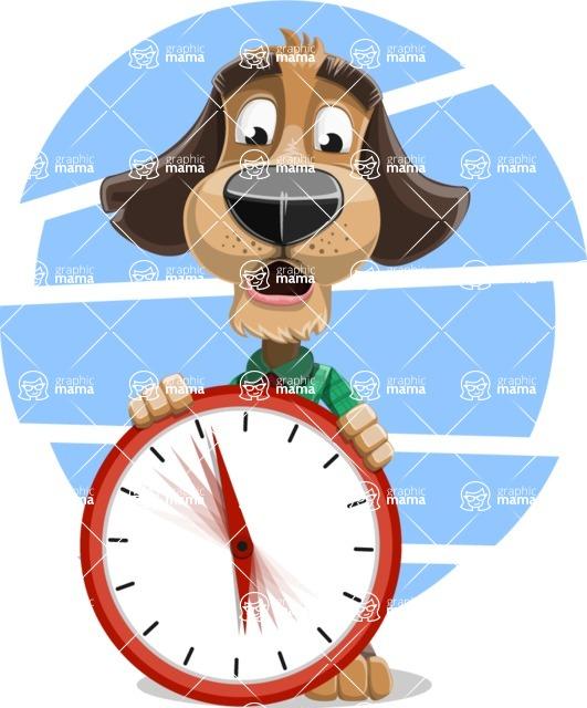 Business Dog Cartoon Vector Character AKA Donny - Shape 11