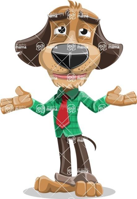 Business Dog Cartoon Vector Character AKA Donny - Sorry