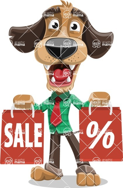 Business Dog Cartoon Vector Character AKA Donny - Sale 2