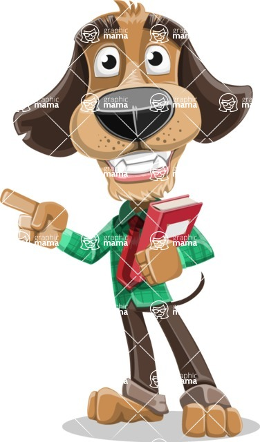 Business Dog Cartoon Vector Character AKA Donny - Book 3