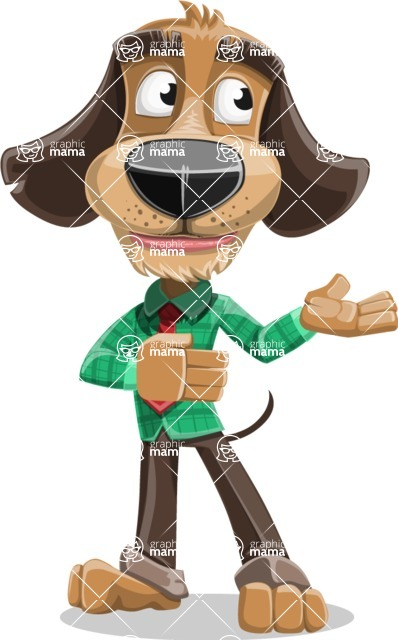 Business Dog Cartoon Vector Character AKA Donny - Showcase