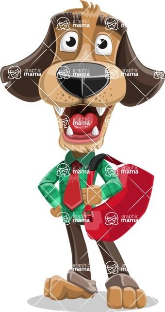 Business Dog Cartoon Vector Character AKA Donny - Travel 2