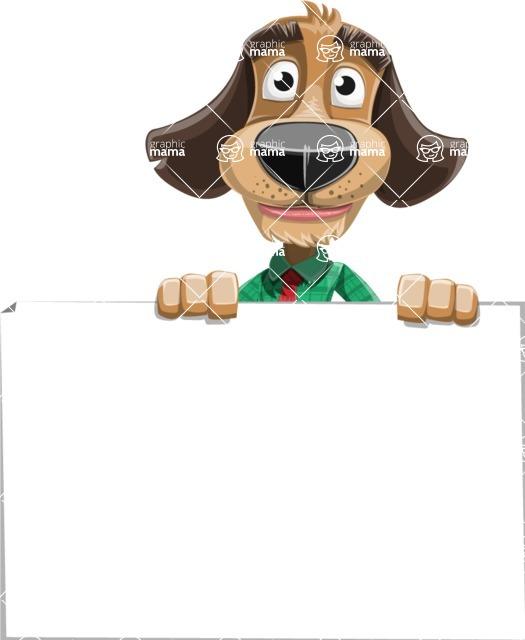 Business Dog Cartoon Vector Character AKA Donny - Sign 6