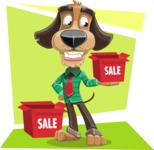 Business Dog Cartoon Vector Character AKA Donny - Shape 12